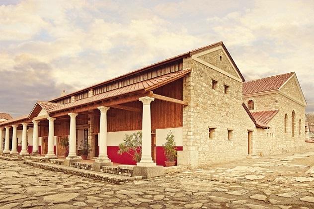 Außenanischt des Gebäudes der Römischen Therme