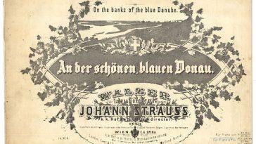 Donauwalzer, Titelblatt einer der ersten Ausgaben 1867
