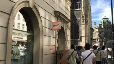 Mannershop auf dem Stephansplatz