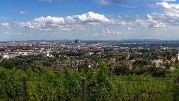 Aussicht Panoramablick vom wilhelminenberg