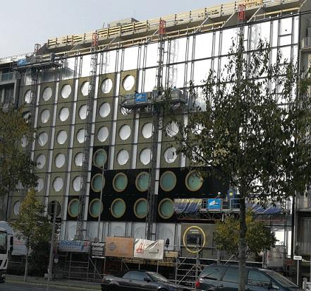 Hotel Mooons in der Fertigstellung des Gebäudes