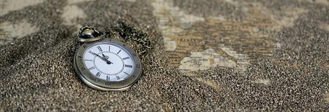 eine Taschenuhr auf einer Landkarte