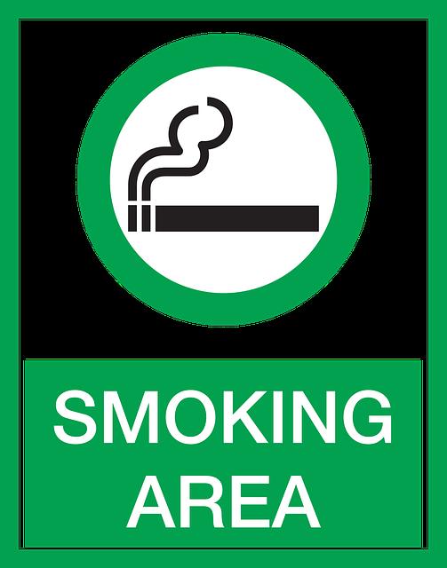 """Schild mit Aufschrift """"Smoking Area"""""""