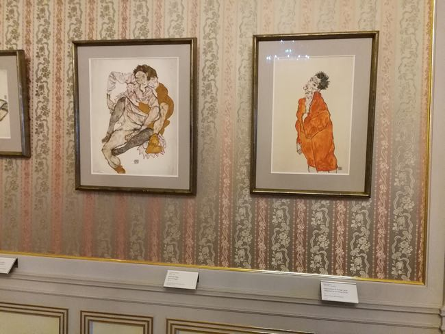 Werke von Egon Schiele in der Albertina
