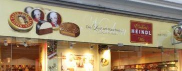 Schokoladenladen Heindl von außen gesehen