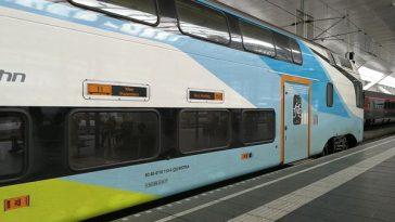 Westbahn auf der Fahrt von Salzburg nach Wien Praterstern