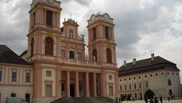 Ansicht der Kirche von Stift Göttweig