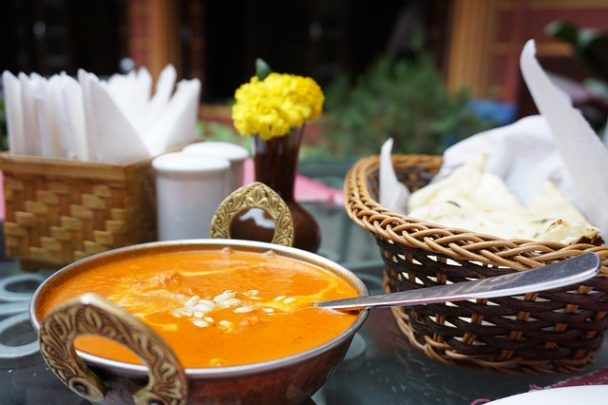 indisches Essen Curry Suppe